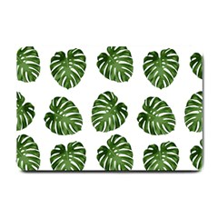 Leaf Pattern Seamless Background Small Doormat  by BangZart
