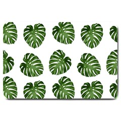 Leaf Pattern Seamless Background Large Doormat  by BangZart