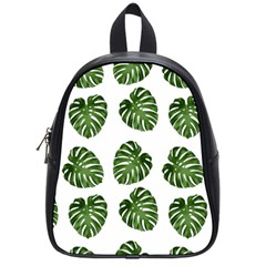 Leaf Pattern Seamless Background School Bags (small)  by BangZart