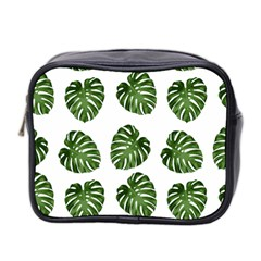 Leaf Pattern Seamless Background Mini Toiletries Bag 2 Side