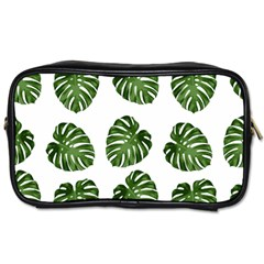 Leaf Pattern Seamless Background Toiletries Bags 2 Side by BangZart