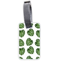 Leaf Pattern Seamless Background Luggage Tags (one Side)  by BangZart