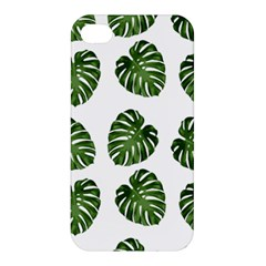 Leaf Pattern Seamless Background Apple Iphone 4/4s Hardshell Case by BangZart