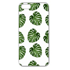 Leaf Pattern Seamless Background Apple Seamless Iphone 5 Case (clear) by BangZart