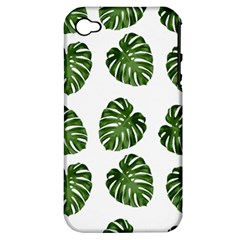 Leaf Pattern Seamless Background Apple Iphone 4/4s Hardshell Case (pc+silicone)