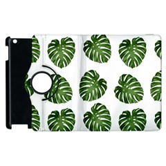 Leaf Pattern Seamless Background Apple Ipad 3/4 Flip 360 Case by BangZart