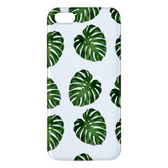 Leaf Pattern Seamless Background Apple Iphone 5 Premium Hardshell Case