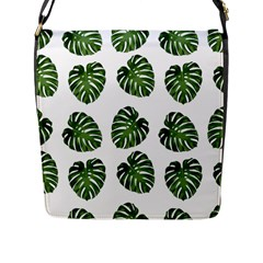 Leaf Pattern Seamless Background Flap Messenger Bag (l)  by BangZart