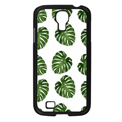 Leaf Pattern Seamless Background Samsung Galaxy S4 I9500/ I9505 Case (black) by BangZart