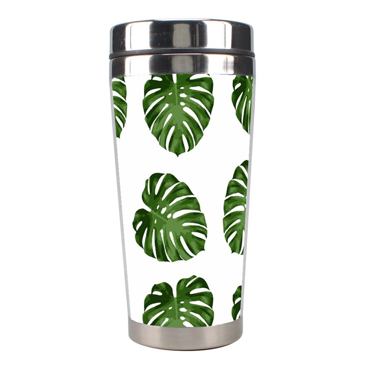 Leaf Pattern Seamless Background Stainless Steel Travel Tumblers
