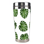 Leaf Pattern Seamless Background Stainless Steel Travel Tumblers Right