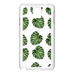 Leaf Pattern Seamless Background Samsung Galaxy Note 3 N9005 Case (white) by BangZart