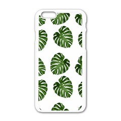 Leaf Pattern Seamless Background Apple Iphone 6/6s White Enamel Case by BangZart