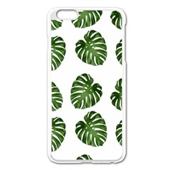 Leaf Pattern Seamless Background Apple Iphone 6 Plus/6s Plus Enamel White Case by BangZart