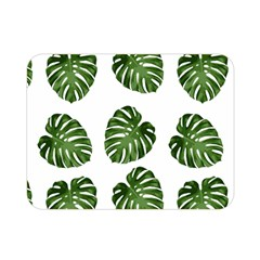 Leaf Pattern Seamless Background Double Sided Flano Blanket (mini)