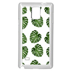 Leaf Pattern Seamless Background Samsung Galaxy Note 4 Case (white) by BangZart