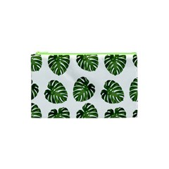 Leaf Pattern Seamless Background Cosmetic Bag (xs) by BangZart