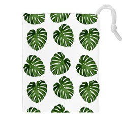 Leaf Pattern Seamless Background Drawstring Pouches (xxl) by BangZart