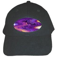 Purple And Yellow Zig Zag Black Cap