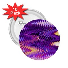 Purple And Yellow Zig Zag 2 25  Buttons (10 Pack)