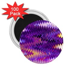 Purple And Yellow Zig Zag 2 25  Magnets (100 Pack)