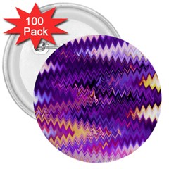 Purple And Yellow Zig Zag 3  Buttons (100 Pack)  by BangZart