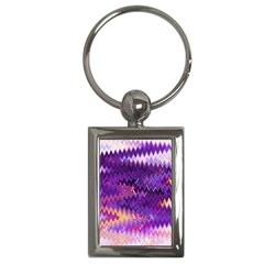 Purple And Yellow Zig Zag Key Chains (rectangle)