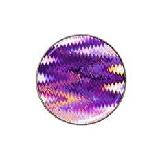 Purple And Yellow Zig Zag Hat Clip Ball Marker (4 Pack) by BangZart