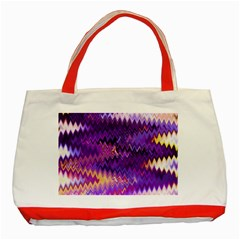 Purple And Yellow Zig Zag Classic Tote Bag (red)