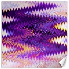 Purple And Yellow Zig Zag Canvas 20  X 20