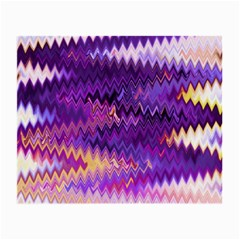 Purple And Yellow Zig Zag Small Glasses Cloth (2 Side) by BangZart