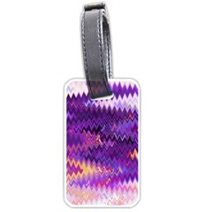 Purple And Yellow Zig Zag Luggage Tags (two Sides)