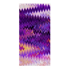 Purple And Yellow Zig Zag Shower Curtain 36  X 72  (stall)