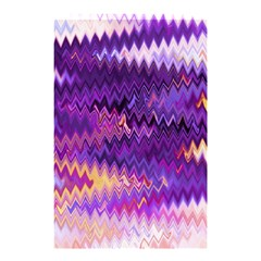 Purple And Yellow Zig Zag Shower Curtain 48  X 72  (small)  by BangZart