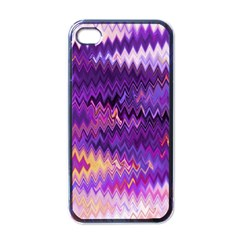 Purple And Yellow Zig Zag Apple Iphone 4 Case (black) by BangZart