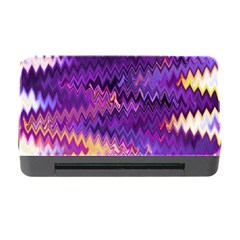 Purple And Yellow Zig Zag Memory Card Reader With Cf by BangZart