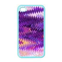 Purple And Yellow Zig Zag Apple Iphone 4 Case (color)