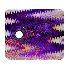 Purple And Yellow Zig Zag Galaxy S3 (flip/folio) by BangZart