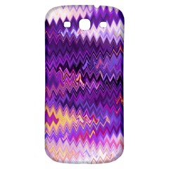 Purple And Yellow Zig Zag Samsung Galaxy S3 S Iii Classic Hardshell Back Case by BangZart