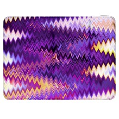 Purple And Yellow Zig Zag Samsung Galaxy Tab 7  P1000 Flip Case