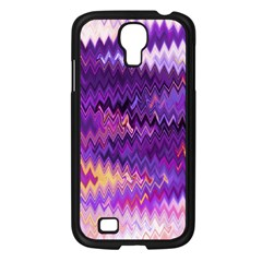 Purple And Yellow Zig Zag Samsung Galaxy S4 I9500/ I9505 Case (black) by BangZart