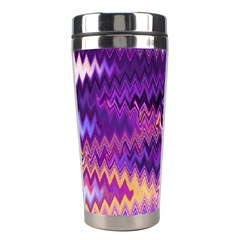 Purple And Yellow Zig Zag Stainless Steel Travel Tumblers by BangZart