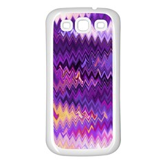 Purple And Yellow Zig Zag Samsung Galaxy S3 Back Case (white)