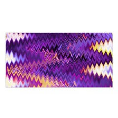 Purple And Yellow Zig Zag Satin Shawl by BangZart
