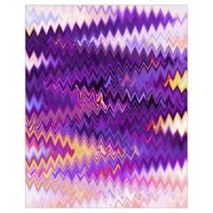 Purple And Yellow Zig Zag Drawstring Bag (small) by BangZart