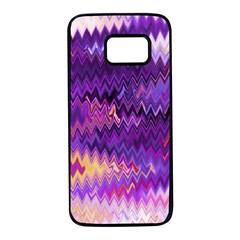 Purple And Yellow Zig Zag Samsung Galaxy S7 Black Seamless Case