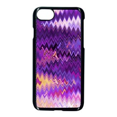 Purple And Yellow Zig Zag Apple Iphone 7 Seamless Case (black) by BangZart