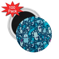 Monster Pattern 2 25  Magnets (100 Pack)  by BangZart