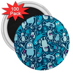 Monster Pattern 3  Magnets (100 Pack)
