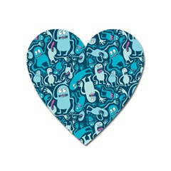 Monster Pattern Heart Magnet by BangZart